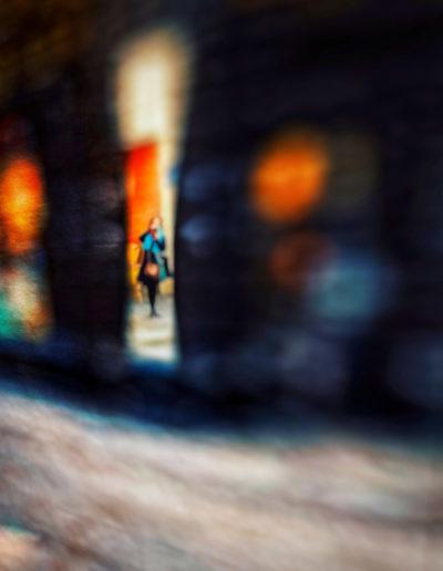 L'autoportrait fuyant et coloré - The fleeing and colored self-portrait, 2019