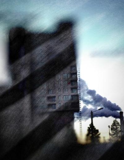 Les deux cheminées - The two chimneys, 2019